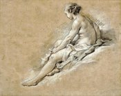 Francois Boucher - A Nude Girl Seated