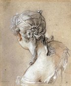 Francois Boucher - Head of a Woman Seen From Behind