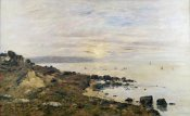 Eugene Boudin - Cliffs at Benerville, Sunset