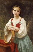 William-Adolphe Bouguereau - Basque Gipsy Girl With Tambourine
