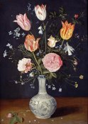 Jan Brueghel the Elder - Tulips, Roses, Forget-Me-Nots and Other Flowers