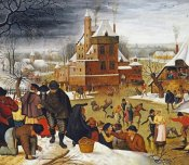 Pieter Bruegel the Elder - Townsfolk Skating On a Castle Moat