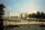 Giovanni Antonio Canal - Old Somerset House From The River Thames, London