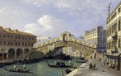 Giovanni Antonio Canal - The Rialto Bridge, Venice