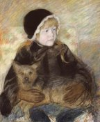Mary Cassatt - Elsie Cassat Holding a Big Dog