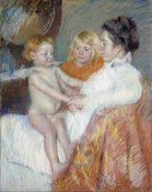 Mary Cassatt - Mother, Sara and The Baby