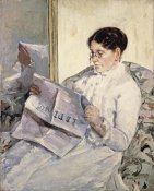 Mary Cassatt - Reading 'Le Figaro'
