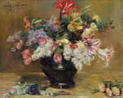 Lovis Corinth - Amaryllis, Lilac and Tulips