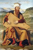 Girolamo Da Santa Croce - King David Playing a Psaltery