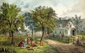 Currier and Ives - American Homestead; Autumn