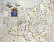 Salomon De Caus - Watercolour Map of Northern Europe