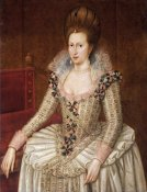 John De Critz - Portrait of Queen Anne of Denmark