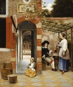 Pieter De Hooch - Courtyard of a House In Delft