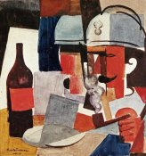 Roger De La Fresnaye - Soldier With Pipe and Bottle