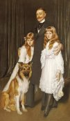 Antonio De La Gandara - Portrait of a Family With Their Collie