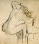 Edgar Degas - A Seated Woman Styling Her Hair