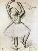Edgar Degas - Backview of a Dancer