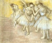 Edgar Degas - Five Dancers On Stage