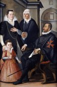 Santi Di Tito - Group Portrait of a Knight of Malta
