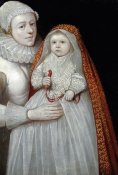 English School - A Christening Portrait of a Mother and Child