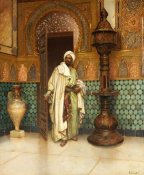 Rudolf Ernst - An Arab In a Palace Interior