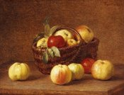 Henri Fantin-Latour - Apples In a Basket On a Table