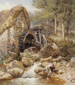 Myles Birket Foster - An Old Water Mill