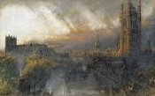 Albert Goodwin - Westminster From a House Top