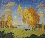 Konstantin Ivanovich Gorbatov - Landscape With Birch Trees