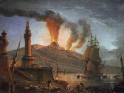Charles-Francois Grenier - Eruption of Vesuvius at Night
