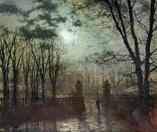 John Atkinson Grimshaw - At The Park Gate