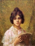 Alexei Alexeiewitsch Harlamoff - Young Woman Holding a Book