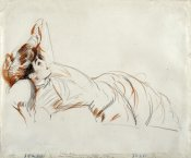 Paul-Cesar Helleu - An Elegant Lady Reclining