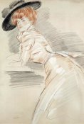 Paul-Cesar Helleu - Madame Helleu in a Hat
