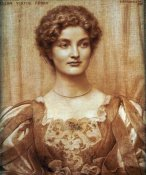Edward Robert Hughes - Portrait of Hilda Virtue Tebbs