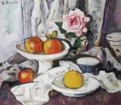 George Leslie Hunter - Apples In a White Fruitbowl