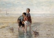 Jozef Israels - Children Playing By The Seaside