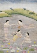 Kangra - The Wives of Raga Hindola Swimming
