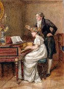 George Goodwin Kilburne - The Music Master