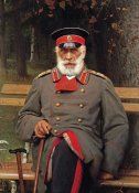 Ivan Nikolaevich Kramskoi - Portrait of a Russian General Seated On a Bench