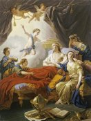 Louis-Jean-Francois Lagrenee - Dauphin The Royal Highness Dying Surrounded By His Family