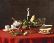 Jules Larcher - A Bowl of Fruit and a Bottle of Champagne
