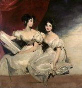 Sir Thomas Lawrence - A Double Portrait of The Fullerton Sisters