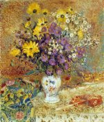 Georges Lemmen - A Vase of Flowers