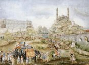 Lucknow School - A Hunting Procession
