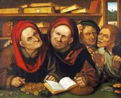 Quentin Massys - Suppliant Peasants In The Office of Two Tax Collectors