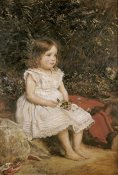 John Everett Millais - Portrait of Eveline Lees As a Child