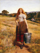 John Everett Millais - The Farmer's Daughter