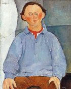 Amedeo Modigliani - Portrait of Sculptor Oscar Miestchanioff