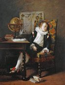 Adolphe Francois Monfallet - The Little Schoolboy